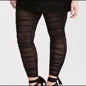 Women Leggings Size 2 sheer black